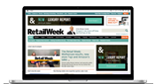RetailWeek website on a laptop
