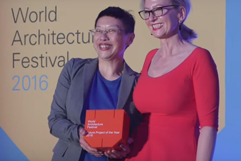 Watch Alison Brooks Architects present their project 'The Smile' which was later named the Display - Completed Building winner 2017