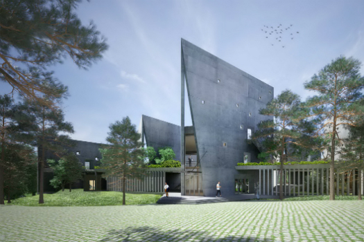 Office - Future Projects Winner: Vo Trong Nghia Architects, Viettel offsite studio, Hanoi, Vietnam