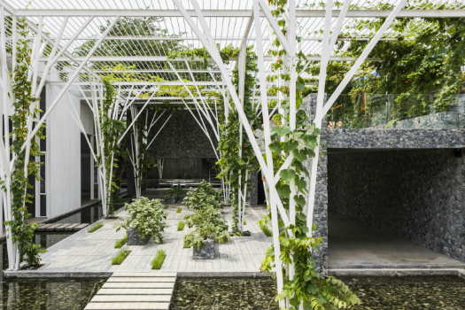 Hotel and Leisure - Completed Buildings Winner supported by GROHE: Cong Sinh Architects, Vegetable Trellis, Ho Chi Minh City, Vietnam